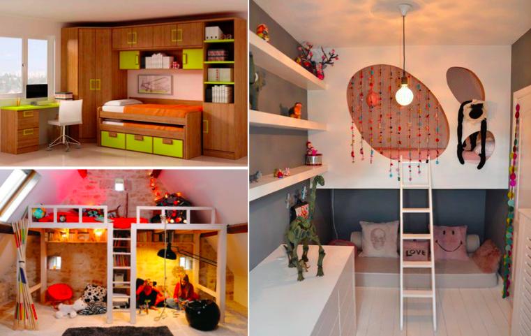 32 id es afin d 39 optimiser l 39 espace d 39 une petite chambre d 39 enfant. Black Bedroom Furniture Sets. Home Design Ideas
