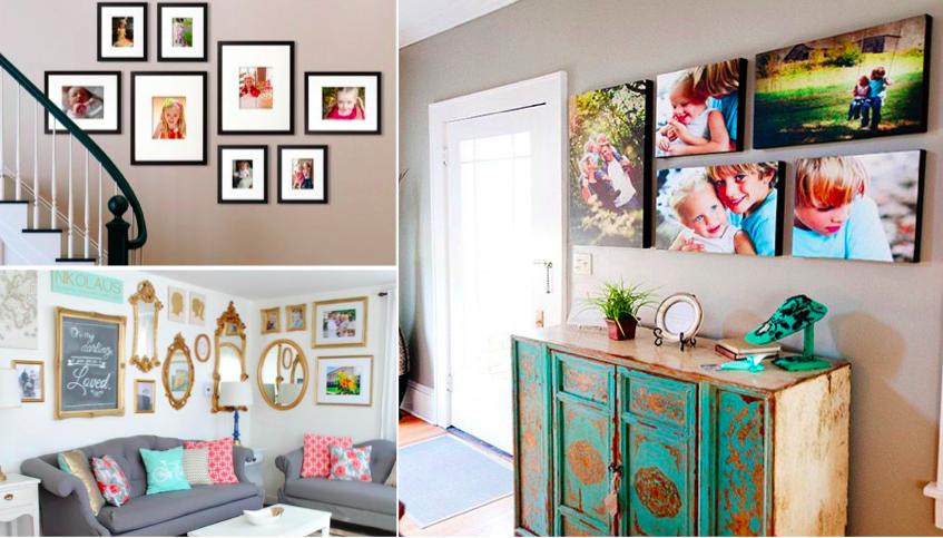 50 inspirations pour bien disposer vos cadres photos et. Black Bedroom Furniture Sets. Home Design Ideas