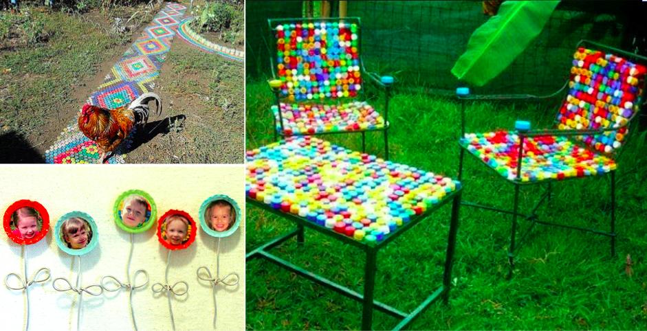 r utilisez des bouchons en plastique et des capsules pour faire des bricolages avec vos enfants. Black Bedroom Furniture Sets. Home Design Ideas