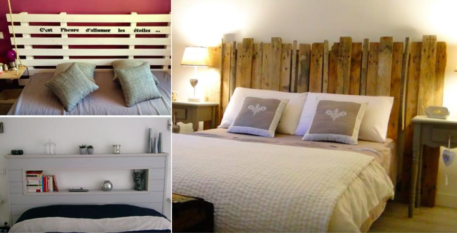 16 id es de t tes de lit avec des palettes des id es. Black Bedroom Furniture Sets. Home Design Ideas