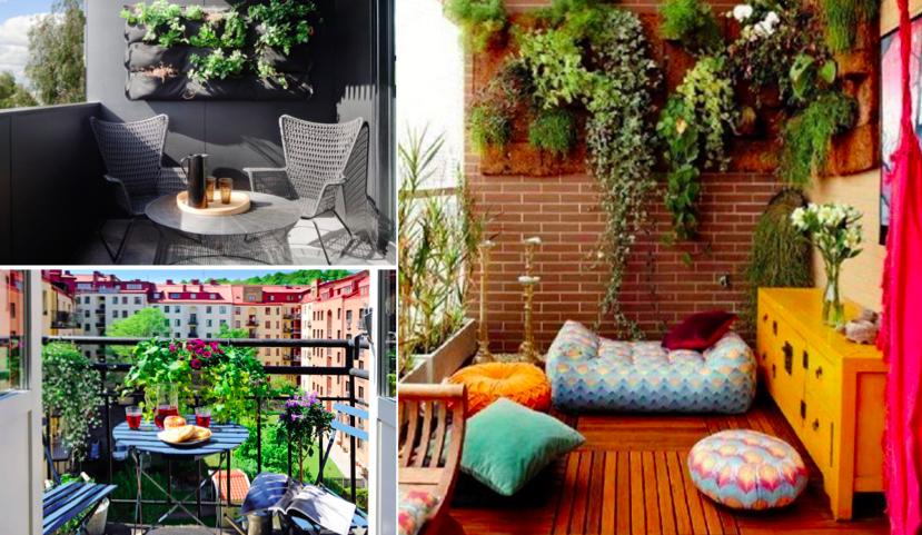 une cinquantaine d 39 id es de jolis am nagements pour petits balcons des id es. Black Bedroom Furniture Sets. Home Design Ideas