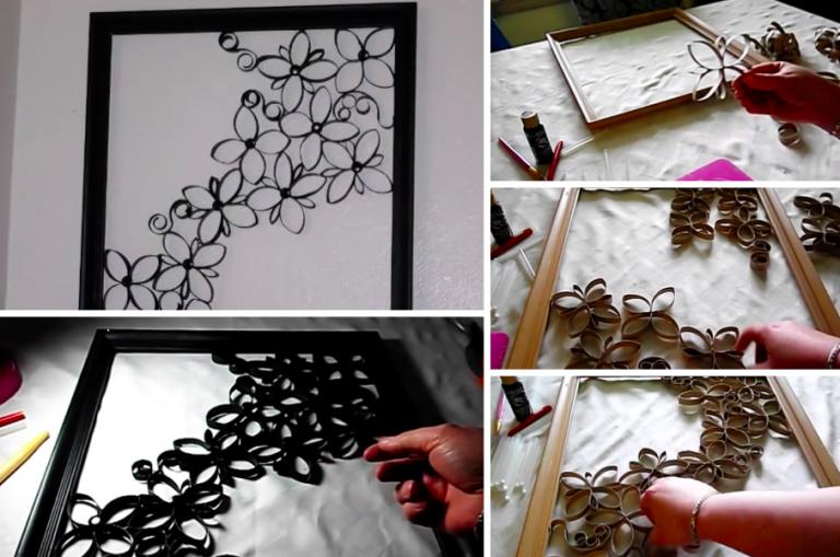 Comment faire une magnifique d coration murale avec des for Idee deco murale toilettes