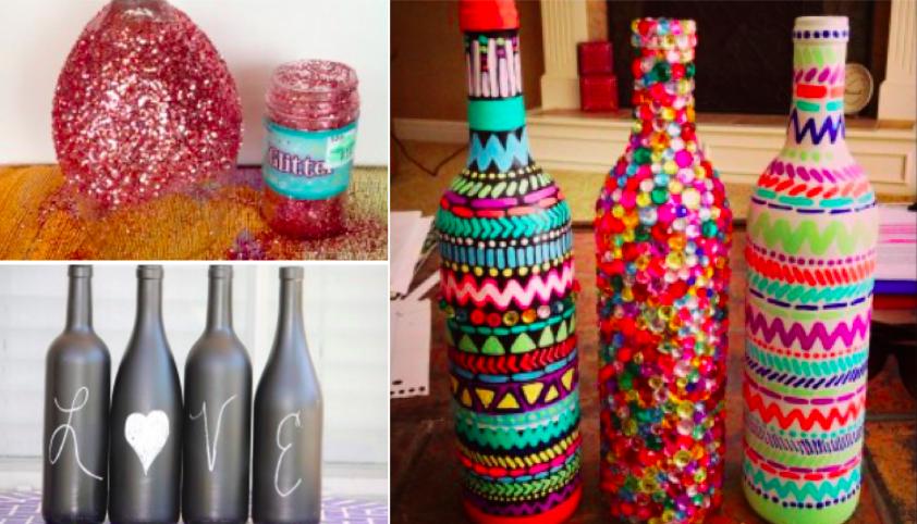 6 tutos pour red corer vos bouteilles et verres vin des id es. Black Bedroom Furniture Sets. Home Design Ideas
