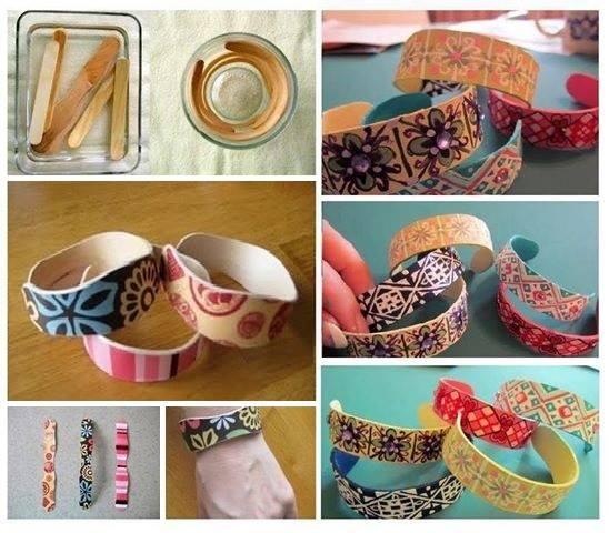 fabriquez des bracelets originaux avec des b tonnets de glace des id es. Black Bedroom Furniture Sets. Home Design Ideas