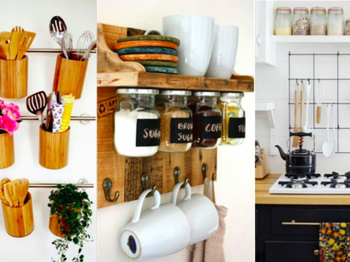 16 idées de rangements muraux pour la cuisine à bricoler soi-même