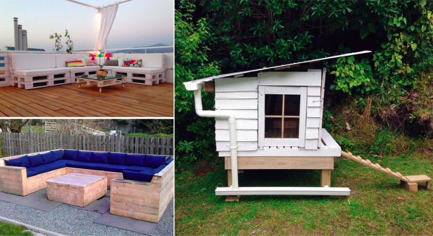 105 id es de meubles en palette pour votre jardin - Decoration jardin palette de bois ...