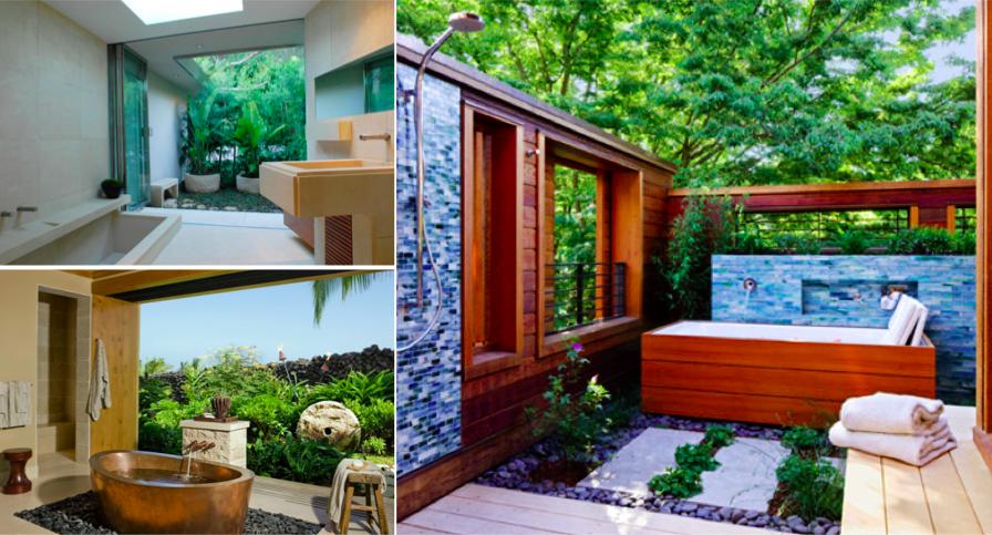 36 merveilleuses id es de salles de bains d 39 ext rieur des id es. Black Bedroom Furniture Sets. Home Design Ideas