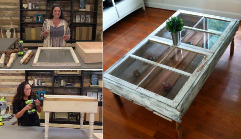 Construisez une magnifique table caf partir d 39 une for Decoration vieille fenetre