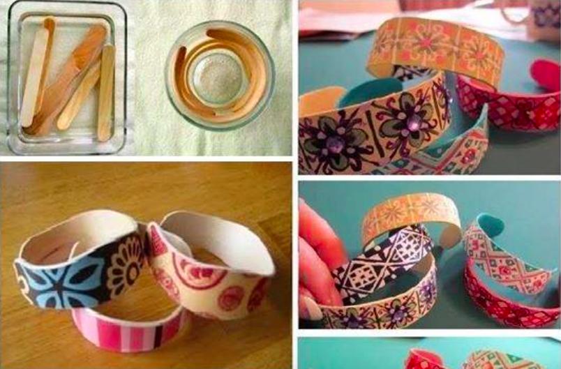 fabriquez des bracelets originaux avec des b tonnets de. Black Bedroom Furniture Sets. Home Design Ideas