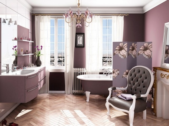18 id es de d coration de salles de bains avec une. Black Bedroom Furniture Sets. Home Design Ideas