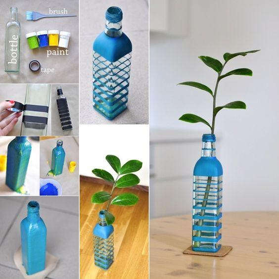 12 id es pour relooker vos bouteilles en verre en objets d co. Black Bedroom Furniture Sets. Home Design Ideas