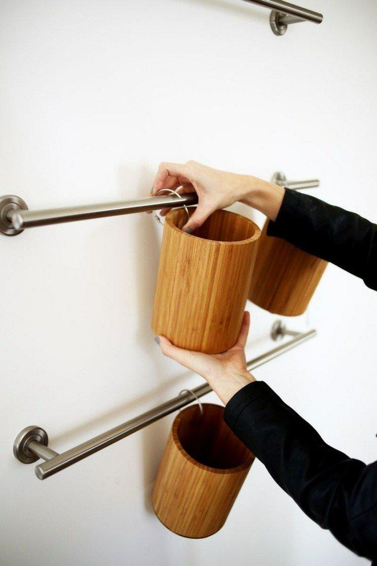 rangement-mural-cuisine-bois-massif-métal-faire