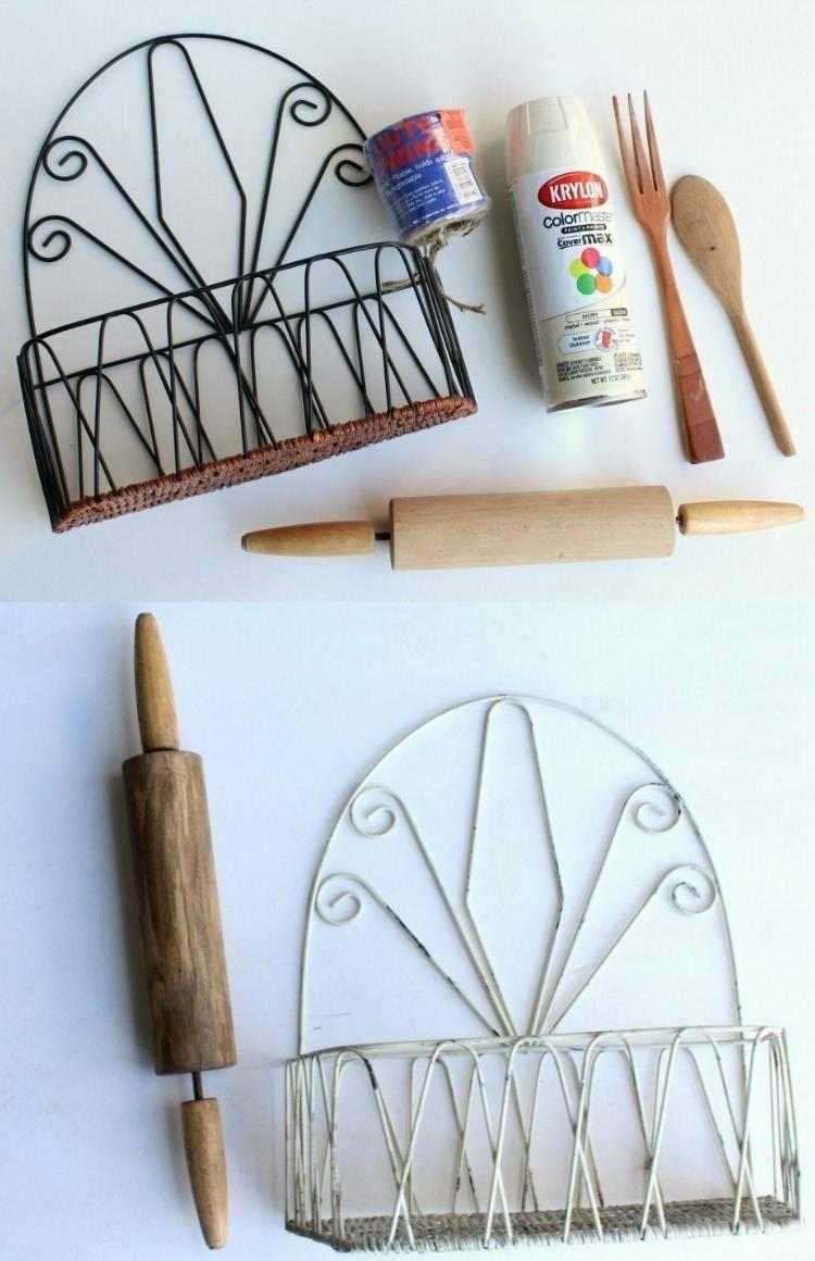 rangement-mural-cuisine-vintage-métal-repeint-blanc