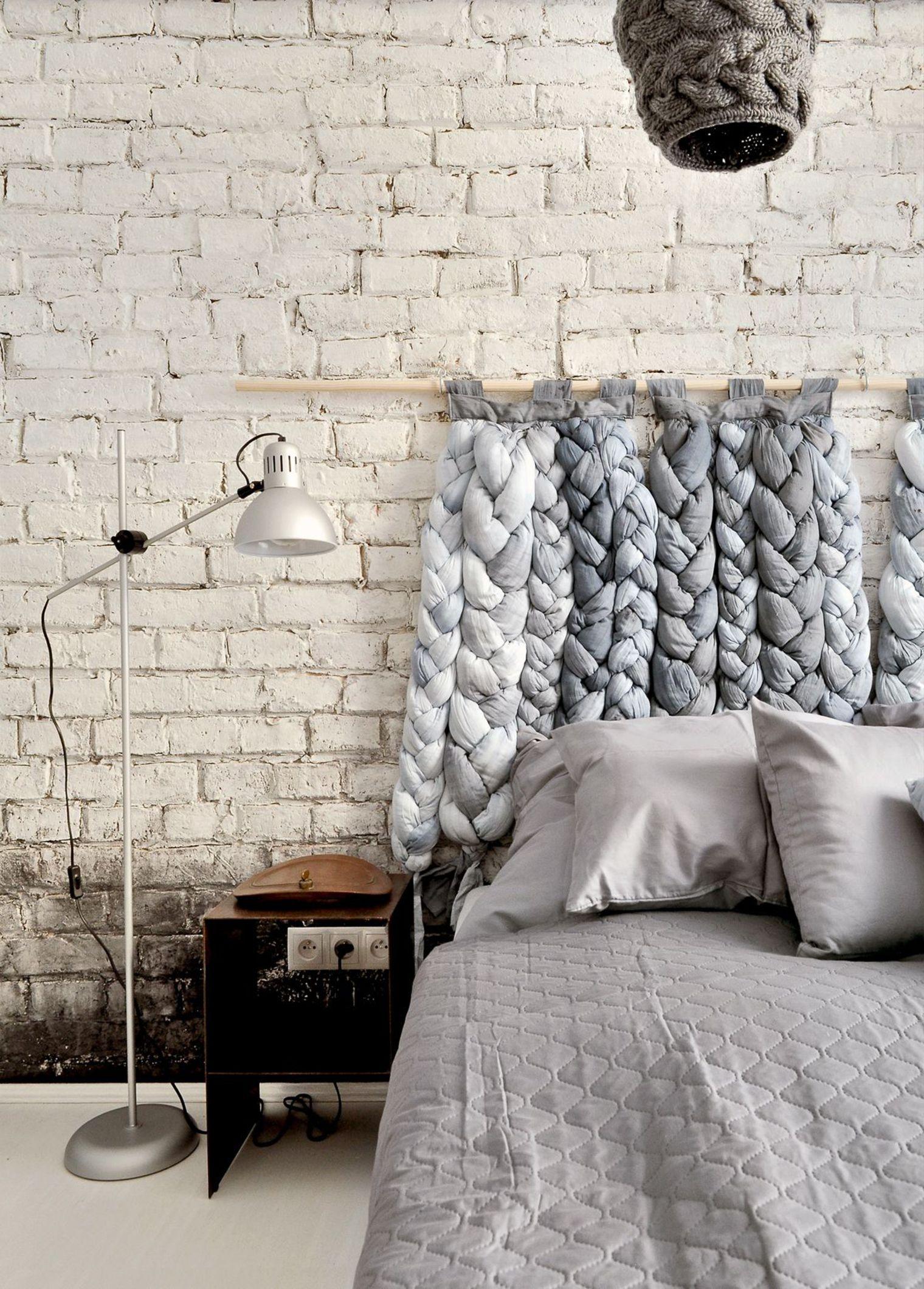 12 id es pour d corer votre t te de lit - Tete de lit a faire soi meme en tissu ...
