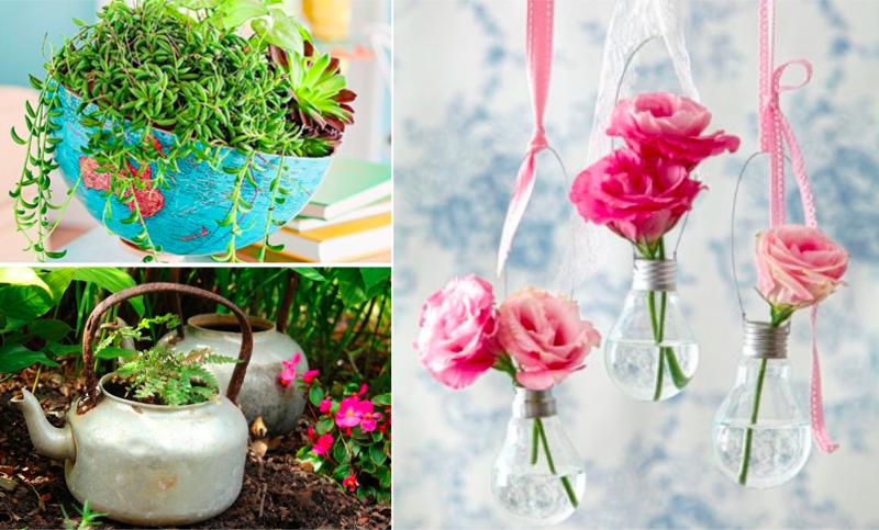 29 superbes id es de pots de fleurs en mat riaux de r cup ration page 2 sur 3. Black Bedroom Furniture Sets. Home Design Ideas