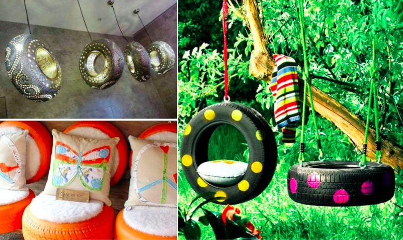38 recyclages stup fiants avec des vieux pneus vous n. Black Bedroom Furniture Sets. Home Design Ideas