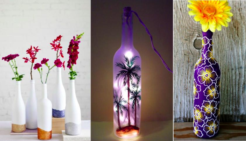 12 id es pour relooker vos bouteilles en verre en objets. Black Bedroom Furniture Sets. Home Design Ideas