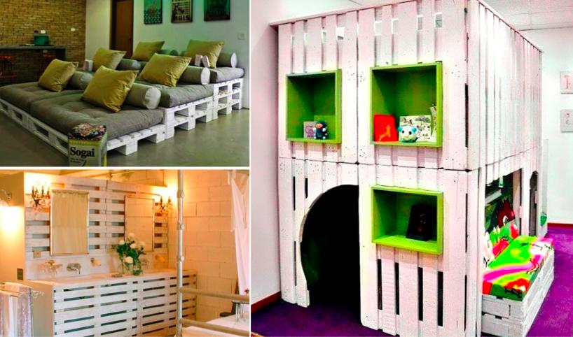 30 utilisations g niales des palettes pour am liorer votre maison des id es. Black Bedroom Furniture Sets. Home Design Ideas