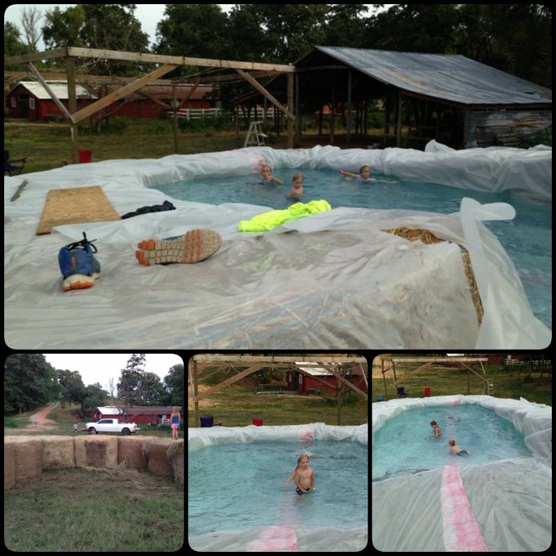 Create A Swimming Pool With Straw Bales Creatistic