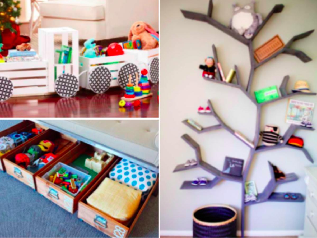 Caisse En Bois Pour Livre 15 idées de rangements créatifs pour vos enfants !