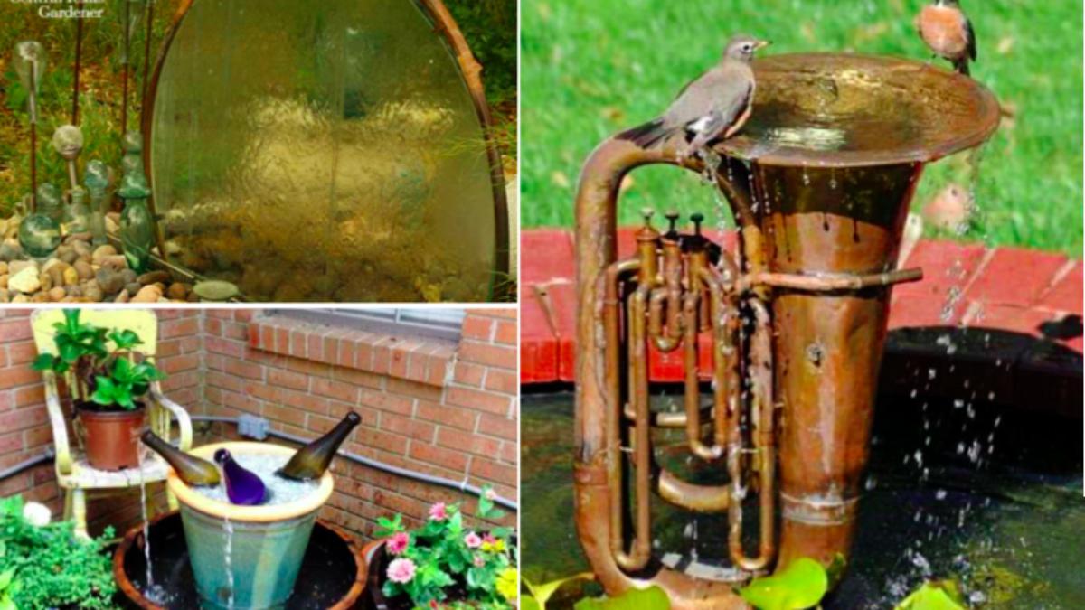 Pot De Fleur Avec Des Pneus 15 id�es de jardins d'eau et fontaines � faire vous-m�me
