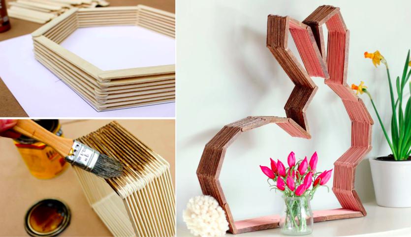 fabriquer une superbe tag re en b tons de glace des id es. Black Bedroom Furniture Sets. Home Design Ideas