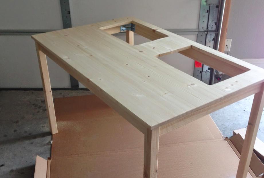 Il transforme une simple table ikea en une superbe table de jeux pour les enfants des id es - Table de jeux pour enfant ...