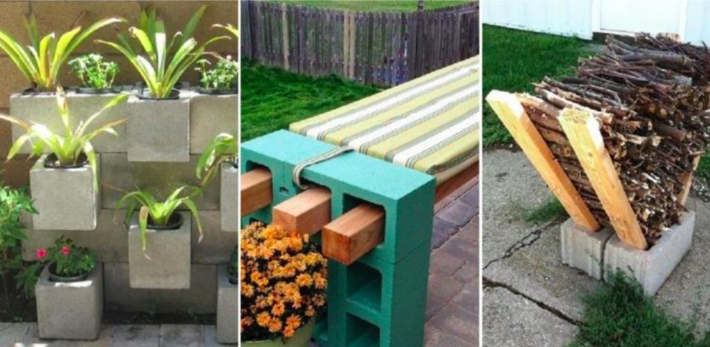 30 id es g niales pour d corer votre jardin avec des blocs for Bloc beton jardin