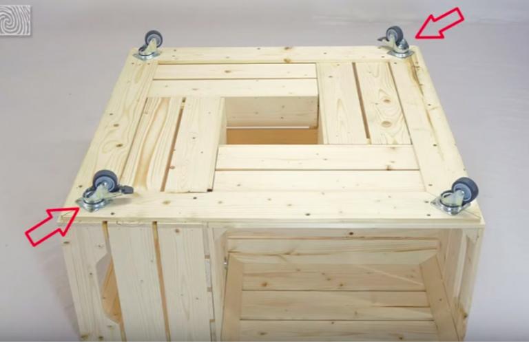 Fabriquer une table basse avec des caisses de vin des id es - Caisse de vin en bois bricolage ...