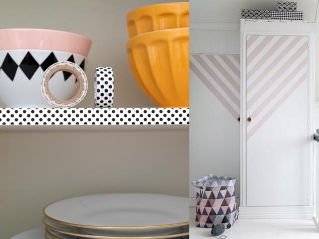 31 id es de masking tape d corer en toute simplicit. Black Bedroom Furniture Sets. Home Design Ideas