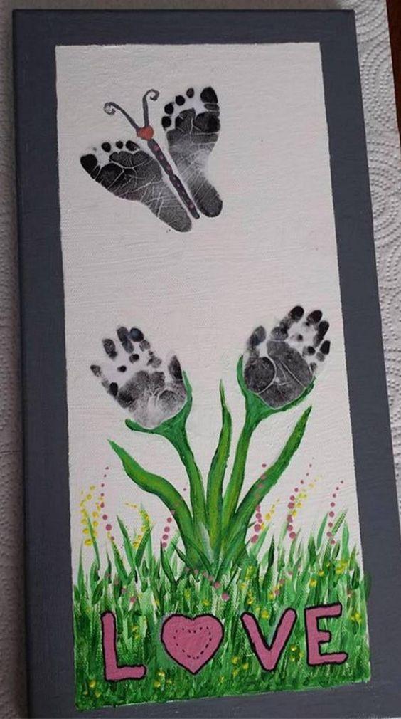 20 id es de peintures avec les mains et les pieds pour vos. Black Bedroom Furniture Sets. Home Design Ideas
