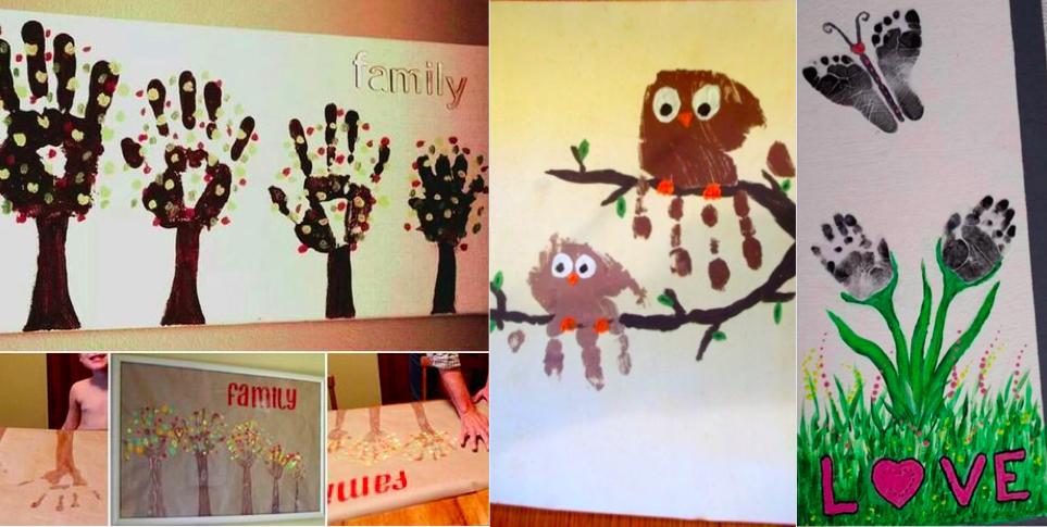 20 id es de peintures avec les mains et les pieds pour vos enfants des id es - Peinture main enfant ...