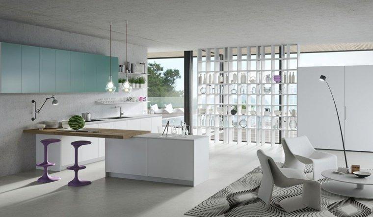 25 idées de cuisines ouvertes au design italien  Des idées