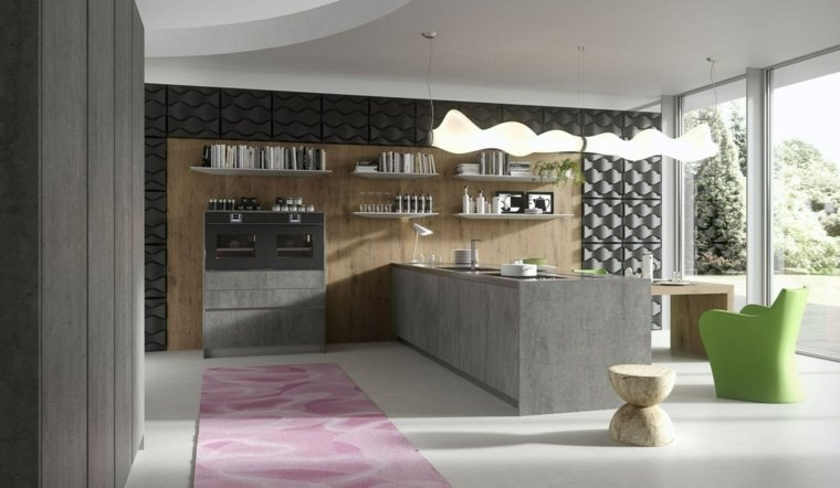 cuisine-ilot-design-idee-amenager