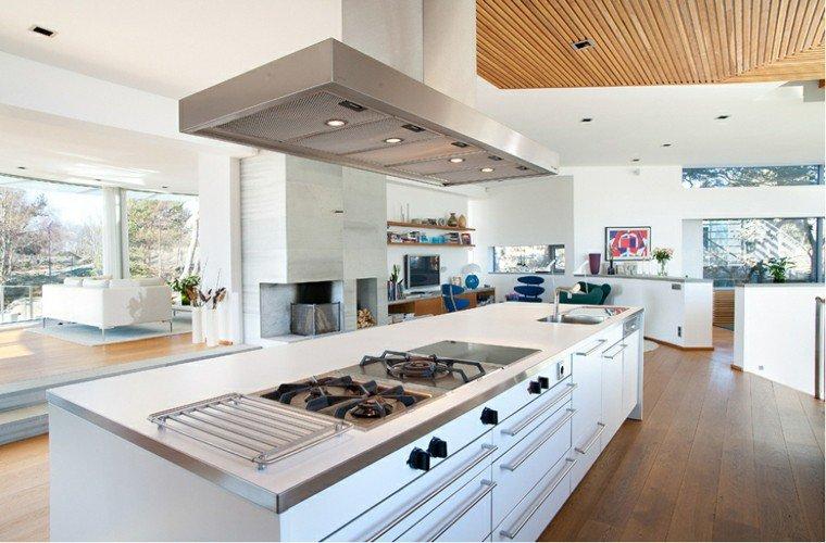 25 id es de cuisines ouvertes au design italien page 2 for Grande cuisine ouverte