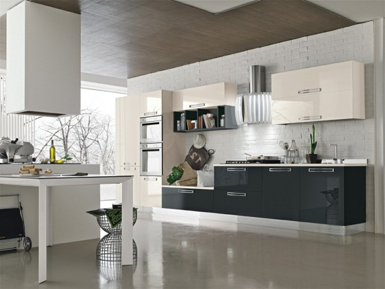 25 id es de cuisines ouvertes au design italien page 3 sur 3 des id es. Black Bedroom Furniture Sets. Home Design Ideas