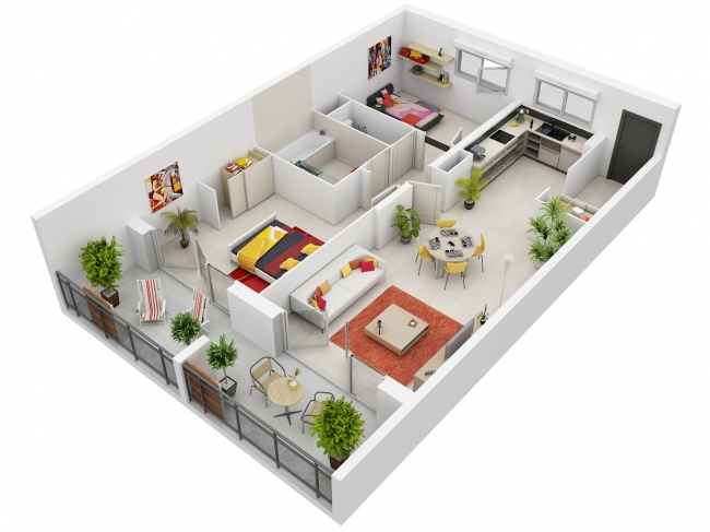 Plan Appartement  Chambres