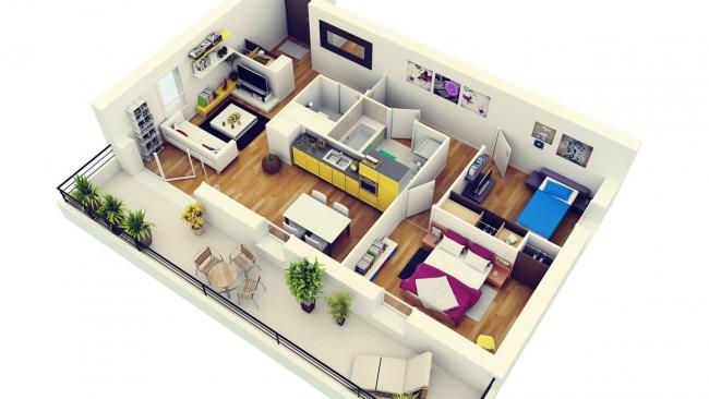 Plans En D DAppartements Et Maisons  Des Ides