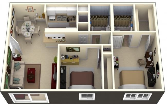 50 Plans En 3d D Appartements Et Maisons Page 6 Sur 6