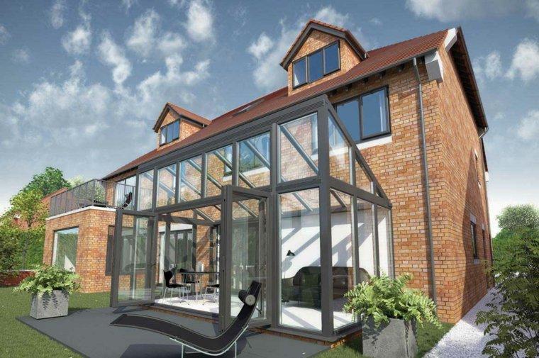 maison-brique-avec-veranda-contemporaine - Des idées