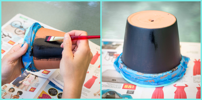 Avec un pot de fleurs fabriquez un joli cadeau pour le professeur de votre enfant des id es - Comment ouvrir un pot de peinture ...