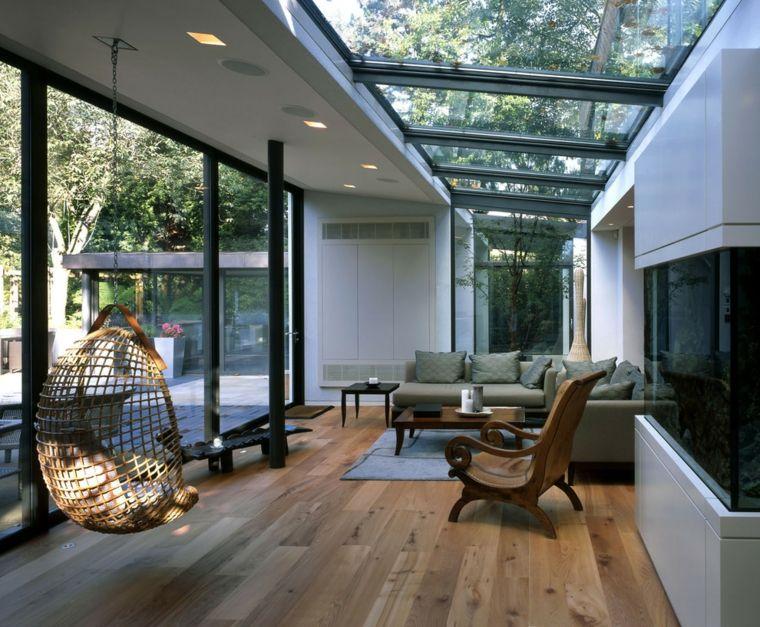 24 id es de v randas contemporaines des id es. Black Bedroom Furniture Sets. Home Design Ideas