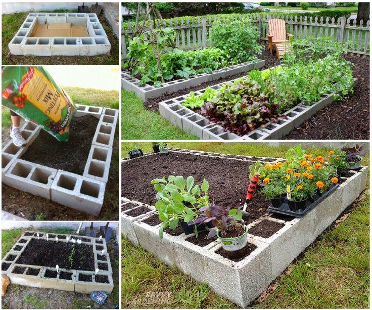 r alisez votre jardin sur lev avec des parpaings des id es. Black Bedroom Furniture Sets. Home Design Ideas