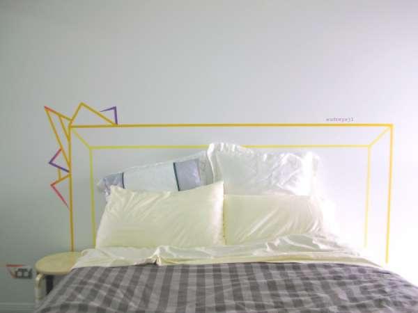 22 id es originales et d coratives avec du masking tape des id es. Black Bedroom Furniture Sets. Home Design Ideas
