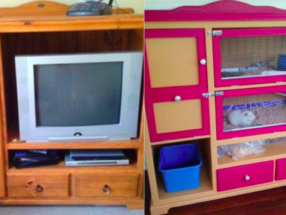 Comment Fabriquer Une Télé En Carton comment transformer de vieux meubles en cages pour vos