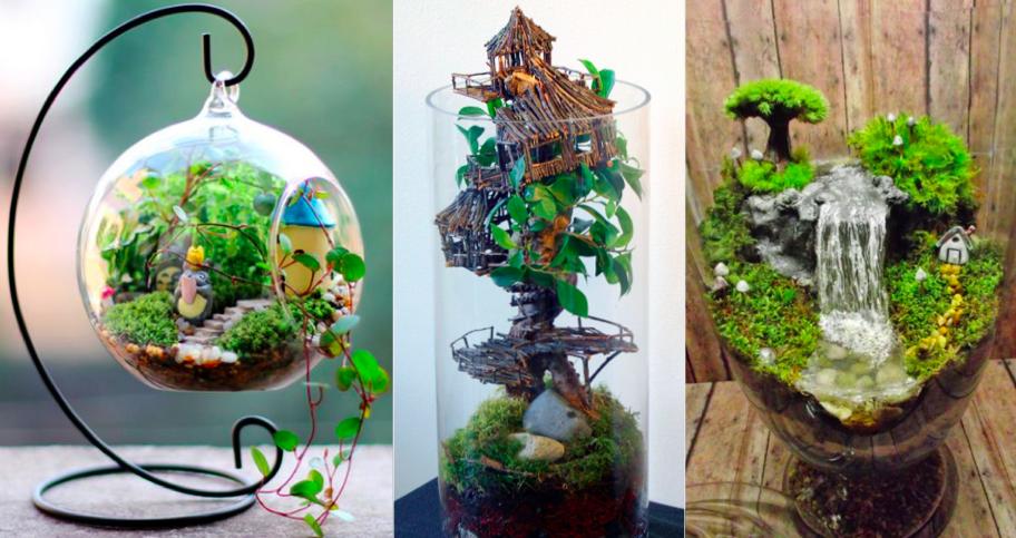 27 id es pour r aliser de magnifiques jardins miniatures chez soi des id es. Black Bedroom Furniture Sets. Home Design Ideas