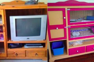 comment transformer de vieux meubles en cages pour vos rongeurs des id es. Black Bedroom Furniture Sets. Home Design Ideas
