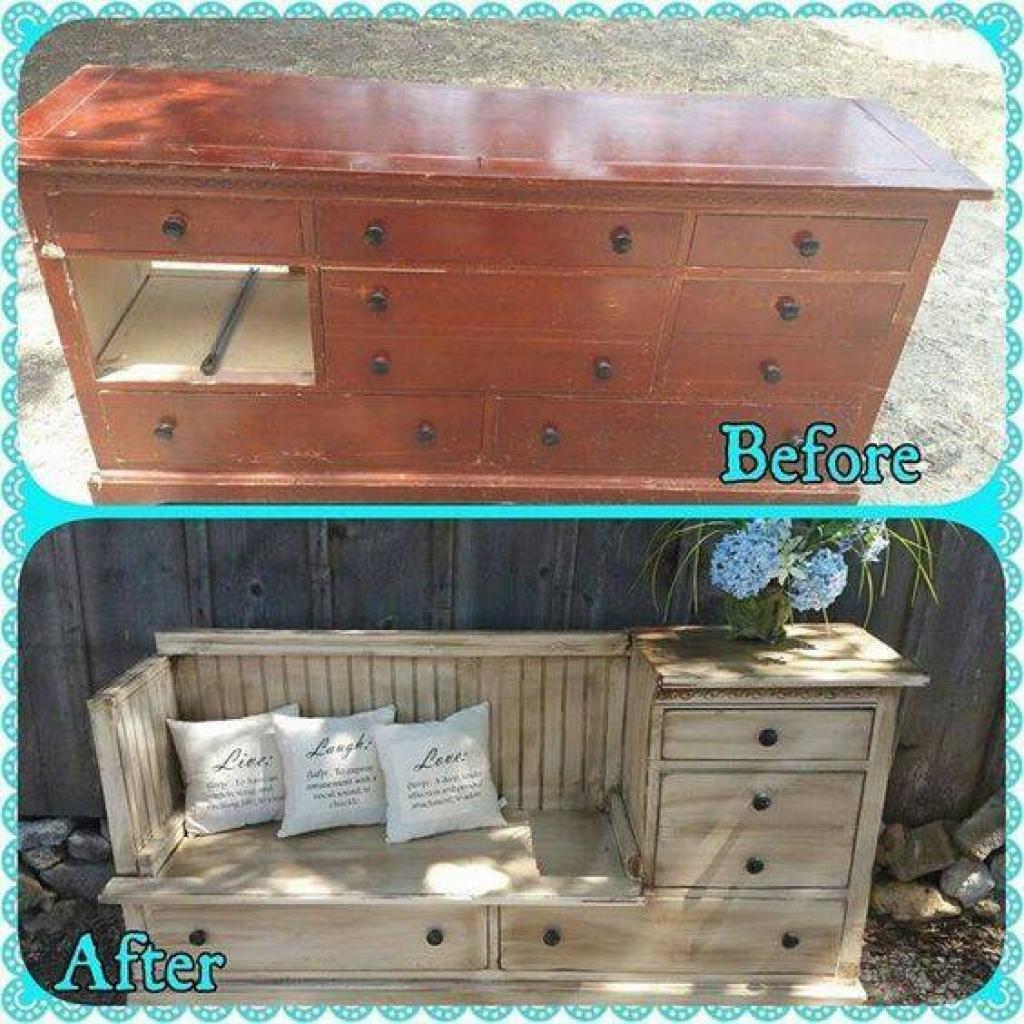 29 id es pour transformer de vieux meubles en nouveaux des id es. Black Bedroom Furniture Sets. Home Design Ideas