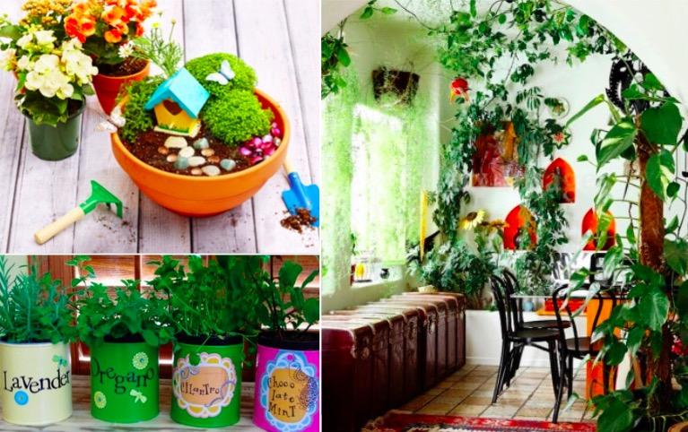 38 id es pour faire un petit jardin d 39 int rieur. Black Bedroom Furniture Sets. Home Design Ideas