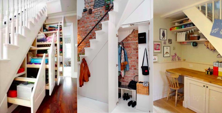 16 id es pour am nager l 39 espace sous vos escaliers des id es. Black Bedroom Furniture Sets. Home Design Ideas